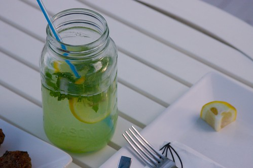 cucumber, ginger ale, mint, lemon