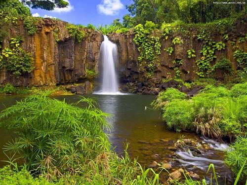 wallpaper nature waterfall. Landscape waterfall Nature
