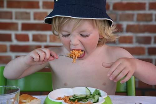 Jef eet pasta