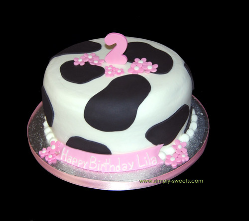 Cow themed Second Birthday Cake