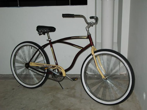raleigh retroglide cruiser bicycle with adopted