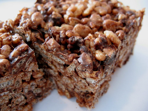 Chocolate Rice Krispie Squares