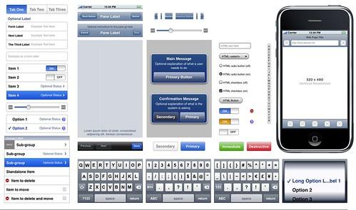 Apple iPhone UI width=