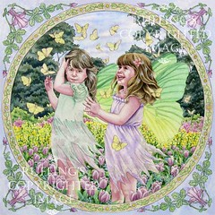 """""""Fairies and Butterflies"""" ER8 by Elizabeth Ruffing"""