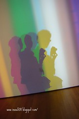 MOMA-某個展覽室,使用特殊的燈光效果