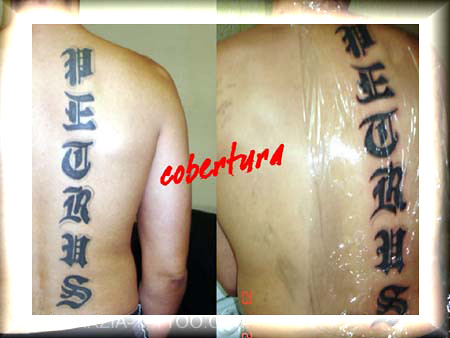 tatuagem letras reforma nas costas. TARZIA TATTOO - TATUAGEM & PIERCING