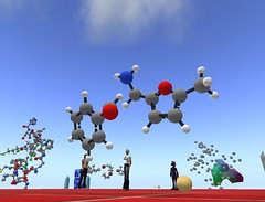 Molecules in Second Life (Fleep Tuque) Tags: secondlife chemistry acs sled molecules slmsg