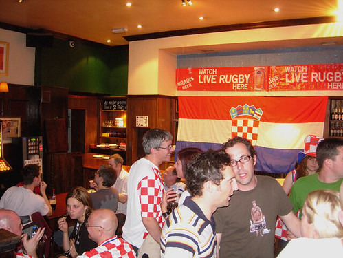 Croatian football fans, London