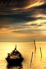 sampan! (halfeast) Tags: sunset malaysia noisy sampan portdickson theunforgettablepictures nearthejetty