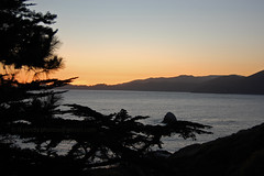 Sunset Silhouettes (lkylindy) Tags: ocean sf california ca trees sunset sky sun mountain tree beach silhouette june bay coast nikon san francisco waves baker pacific wave marshall area headlands coastline marshalls 2008 d40
