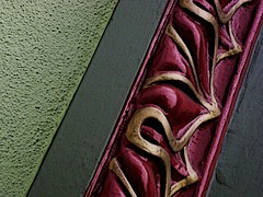fancy-schmancy moulding (msdonnalee) Tags: abstract color colour detail building gold maroon  gray carving trim gilt anawesomeshot  moulding donnacleveland photosbydonnacleveland