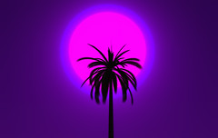 Random Palm Tree (Milana Henley) Tags: purple sl secondlife palmtree