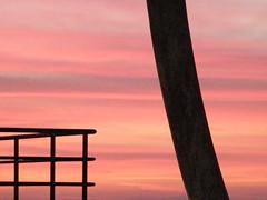 pastel morning with  PINK Floyd (wvandergroef , yeah it's me) Tags: pink sunset sky lines geometry pinkfloyd ecm