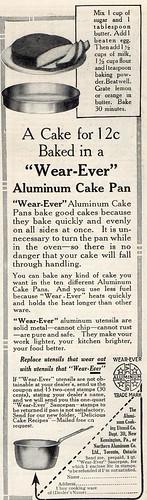 12 cent cake recipe, 1914
