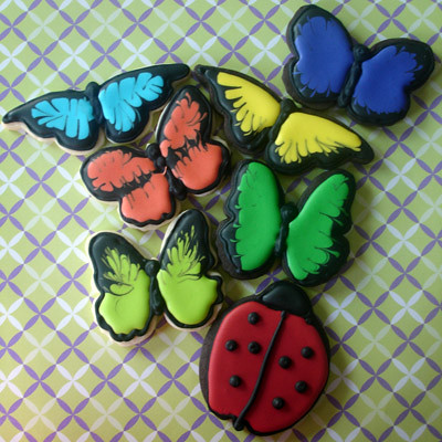Butterflies and a ladybug