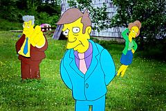 principal skinner, looking guilty (brantastic) Tags: canada canon sara novascotia wtf whycocomagh canon30d simpsonshouse soawesome visitingsara lifesizesimpsonschara lifesizewoodensimpsonscharacters insomeonesfrontlawn