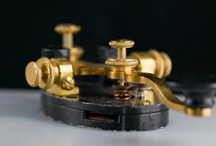 Telegraph Key (photobunny) Tags: macro metal key antique brass telegraph strobist