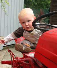 Buddy and the tractor