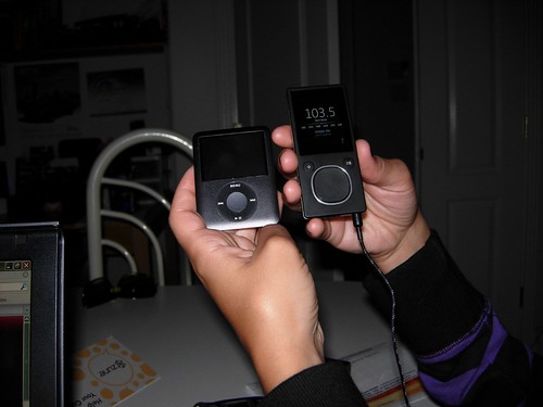 iPod vs. Zune - The Front