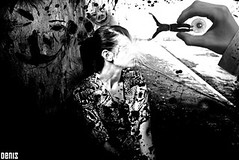 IN PURGATORY ARE NOT ALL GOOD....THE NIGHTMARE BEGINS... (denis magro) Tags: new light boy shadow summer blackandwhite bw italy woman house man eye home girl face mouth pose dark lost nose blood model eyes hand darkness arms arm legs femme evil crack ear nightmare purgatory