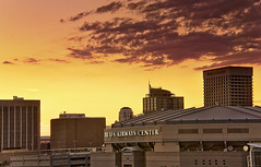 Gold Skyline (jimhankey) Tags: sunset red arizona sky cloud building phoenix yellow skyline gold downtown desert baseball parkinggarage dusk scenic naturallight citylights vista beautifulview desertview cirrus eveninglight phoenixarizona beautifulscenery phoenixaz scenicview maricopacounty blueribbonwinner nikond200 phoenixskyline weatherphotography dearflickrfriend jimhankey phxpow chaseballfield phoenixariz phoenixdiamondbacks