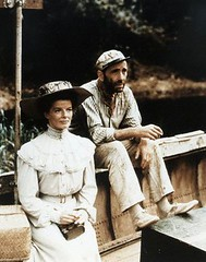 Katharine Hepburn and Humphrey Bogart in The African Queen (djabonillojr.2008) Tags: hat smiling movie sitting actress archives americans males prominentpersons actor whites females retrospective 1951 humphreybogart katharinehepburn facialexpression africanqueen filmshooting americancharm starintheusa moviebyhustonjohn