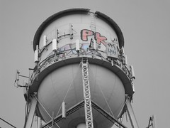 "Graffitti on the Water Tower • <a style=""font-size:0.8em;"" href=""http://www.flickr.com/photos/21800290@N06/2739278721/"" target=""_blank"">View on Flickr</a>"