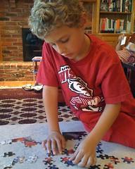 ben working a jigsaw puzzle (alist) Tags: alist robison alicerobison 66214 benjaminrobison