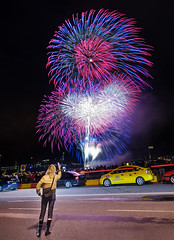 Cell Phone Photo (Anders Adermark) Tags: night fireworks stockholm cellphone slussen photographing 080808 go08