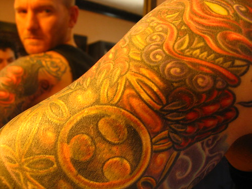 in sleeveless shirts), but shoulder tribal tattoos are popular tattos.