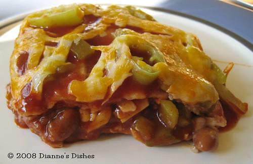 Mexican Lasagna: A Slice