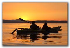 Sunset Kayak (csnyder103) Tags: sunset orange kayak searchthebest calm explore sanjuanislands glassy flickrsbest anawesomeshot isawyoufirst thegoldproject