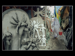 009 SOIL TO SOIL (Madhu Sarkar) Tags: festival clay idol making kolkata durga street on kumartuli