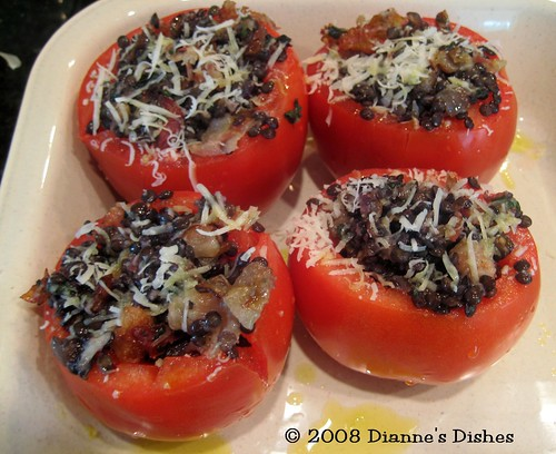 Stuffed Tomatoes: Ready to Bake