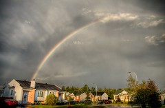Somewhere under the rainbow (Michel Filion) Tags: sky house clouds canon rainbow raw explorer michel filion 40d tamronspaf1750mmf28xrdiiildasphericalif mike9alive michelfilion