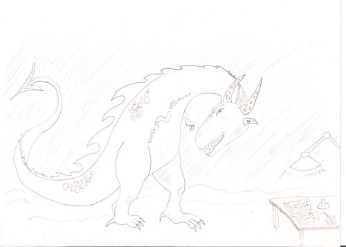 oh man I haven't drawn a dinosaur in about twenty years!