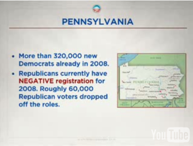 PA Democratic voter registration up -- a lot!!