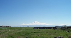 Ararat Mountain from Echmiadzin,Armenia (Alexanyan) Tags: noah city winter mountain snow high main great mount holy armenia armenian ararat armenien caucas armenie echmiadzin etchmiadzin caucasia 5photosaday hayastan armenienne armenisch
