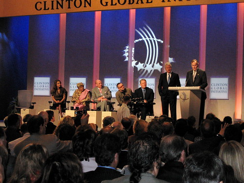 Panelists at the CGI Opening Plenary