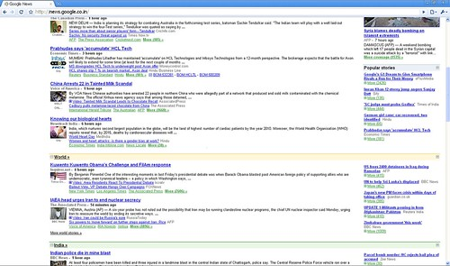 Google News India new layout sections