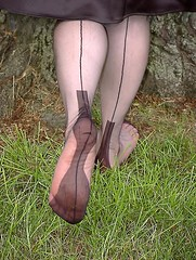 from my dear friend Amy (seamz4evr) Tags: feet stockings outdoors soles fully nylons fashioned seams seamed