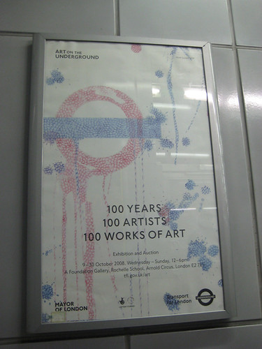 100 years 100 Artists poster at Hammersmith