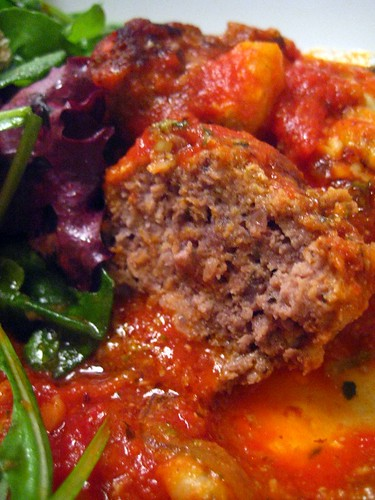 Meatballs in Tomato Sauce - Innards