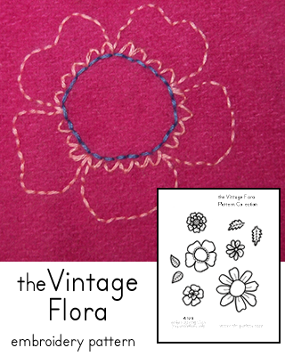 Vintage Flora Embroidery Pattern Collection