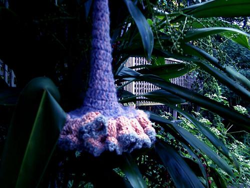 Giant freeform crochet flower