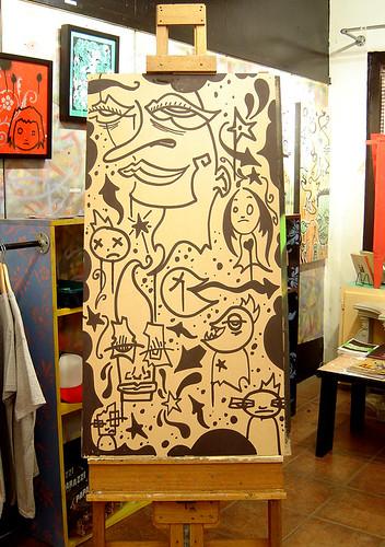 Krink Drawing On Wood