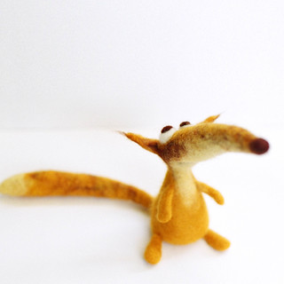 Fox - felt art toy