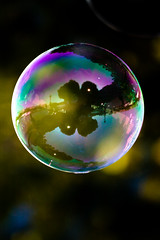 In A Bubble (garryknight) Tags: reflection london canon creativecommons bubble 40d