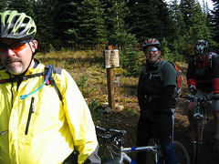 081018_011a-Reg, Clay and me at junction with Deep Creek Trail (Snoquera, Washington, United States) Photo
