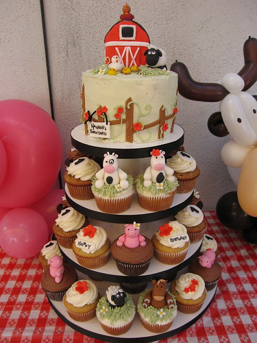 Barnyard Cupcake Tower